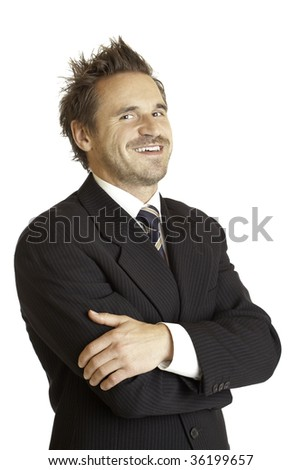 Portrait of a smiling and successful businessman