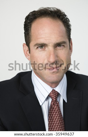 Portrait of a smiling architect. - stock photo