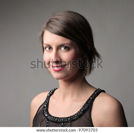 Portrait of a smiling beautiful woman