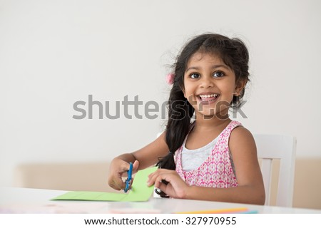 Portrait of a smiling cute little girl - stock photo