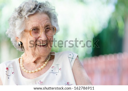 Portrait of a smiling elderly woman