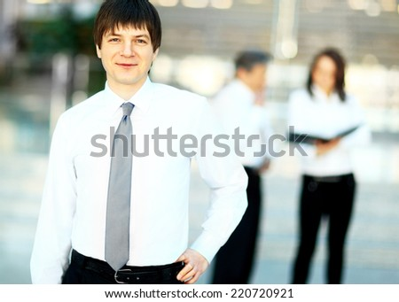 Portrait of a smiling handsome businessman