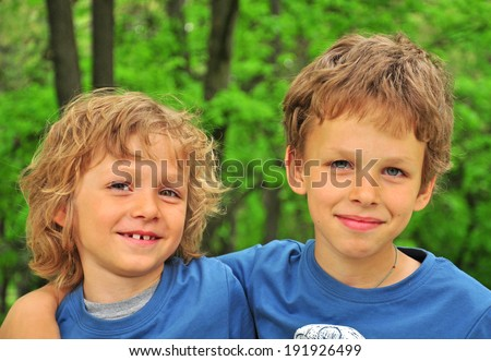 Portrait of a smiling kids - stock photo