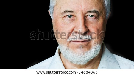Portrait of a smiling senior - stock photo