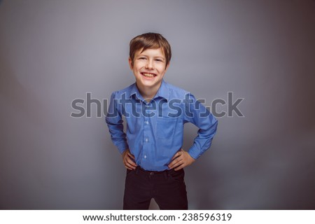 portrait of a smiling teenage boy shatena of European appearance