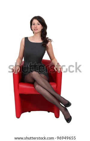 Portrait of a sophisticated woman - stock photo