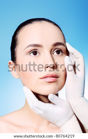 Portrait of a styled professional model. Theme: beauty, spa, healthcare.