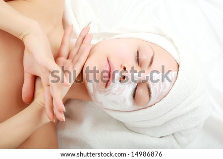 Portrait of a styled professional model. Theme: spa, healthcare.
