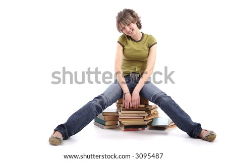 Portrait of a styled professional model. Theme: TEENS, EDUCATION - stock photo