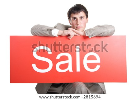 Portrait of a stylish businessman. Shot in studio. Best idea for ad sale. Isolated with clipping path.