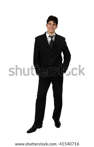 Portrait of a successful business man isolated on white background