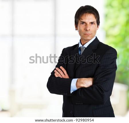 Portrait of a successful handsome businessman - stock photo
