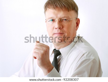 Portrait of a successful mature business man - stock photo