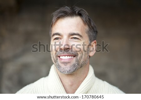 Portrait Of A Successful Mature Man Smiling - stock photo