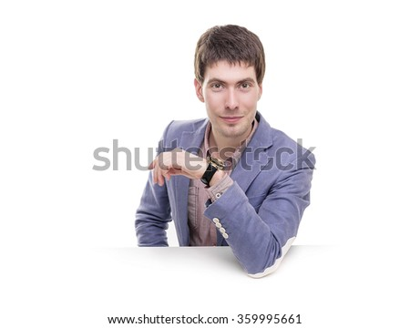 Portrait of a successful young business man. - stock photo
