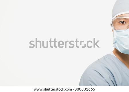 Portrait of a surgeon - stock photo