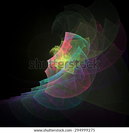 Portrait of a surprised person abstract illustration - stock photo