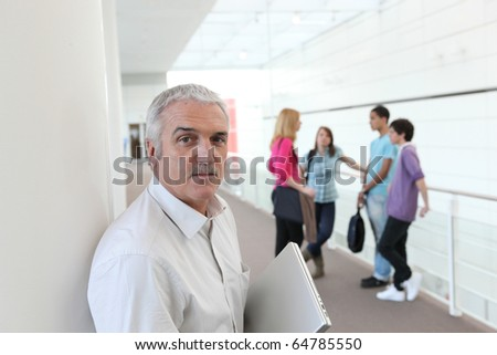 Portrait of a teacher - stock photo