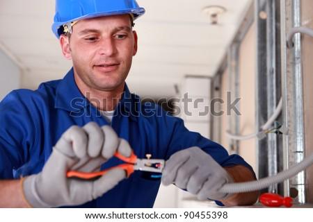 portrait of a technician - stock photo