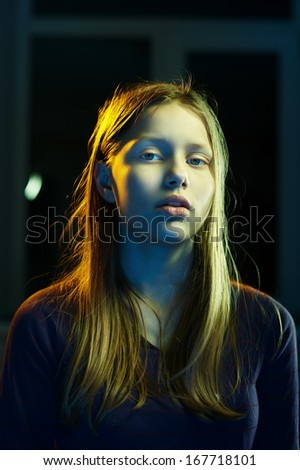 Portrait of a teenager girl  - stock photo