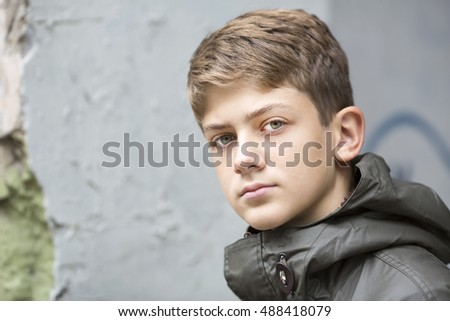 portrait of a teenager on the street