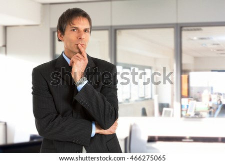 Portrait of a thoughtful businessman in his office