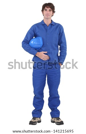 Portrait of a tradesman - stock photo