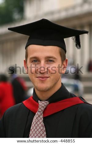 portrait of a university graduate - stock photo