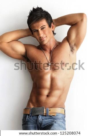 Man naked well Built