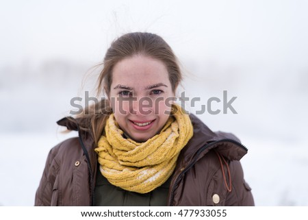 Portrait of a winter woman