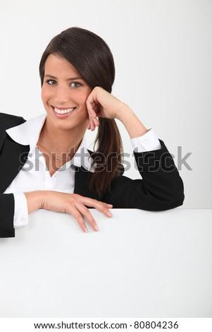 portrait of a woman - stock photo