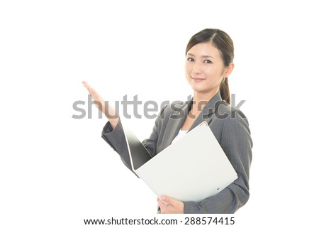 Portrait of a woman doing a presentation