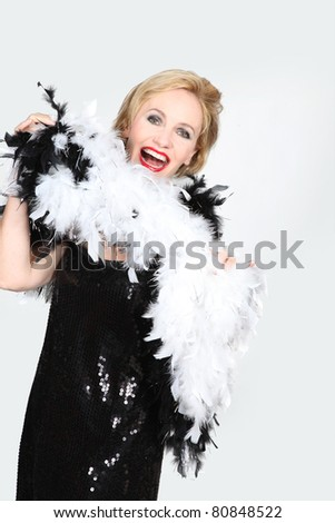 portrait of a woman in costume - stock photo