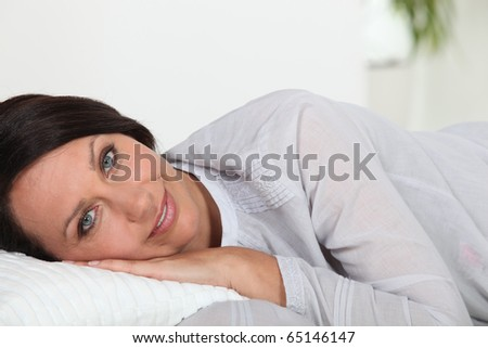 Portrait of a woman relaxing
