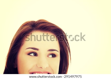 Portrait of a woman somewhere - stock photo