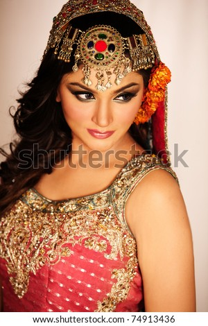 Portrait of a young arab woman - stock photo