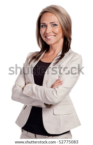 Portrait of a young attractive business woman. - stock photo