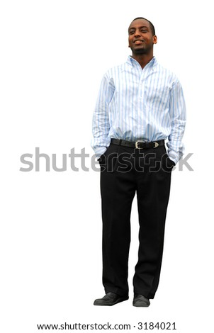 Portrait of a young attractive businessman isolated on white background - stock photo