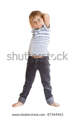 Portrait of a young boy - stock photo