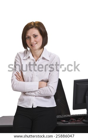 Portrait of a young businesswoman in her office.