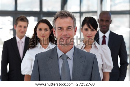 Portrait of a young confident business leader - stock photo