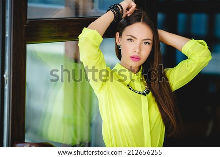 Portrait of a young confident business woman - stock photo
