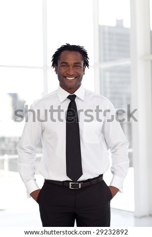 Portrait of a Young Confident Businessman standing