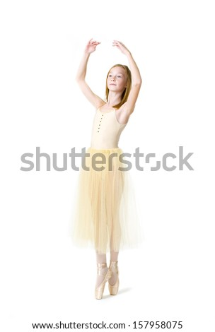Portrait of a young eleven year old dancer