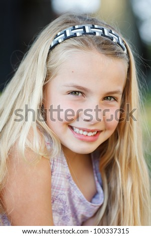 portrait of a young girl outdoor