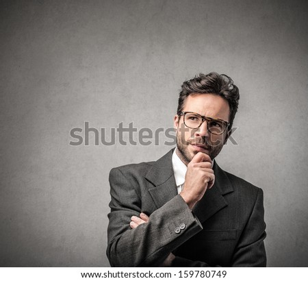 portrait of a young handsome businessman  - stock photo