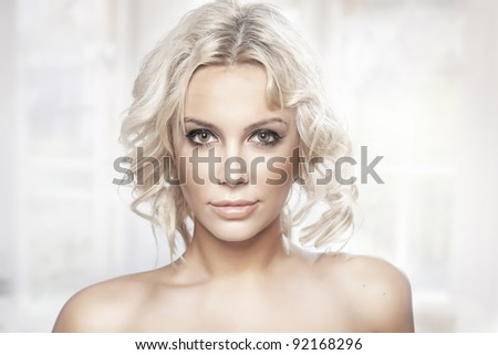 Portrait of a young lady - stock photo