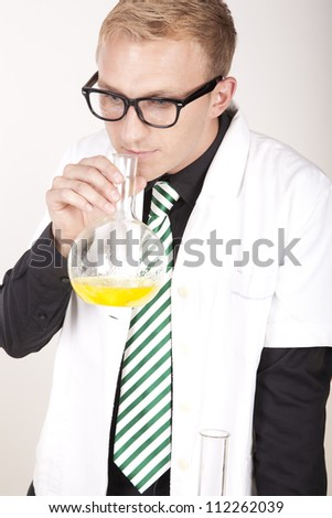 Portrait of a young male laboratory technician working.