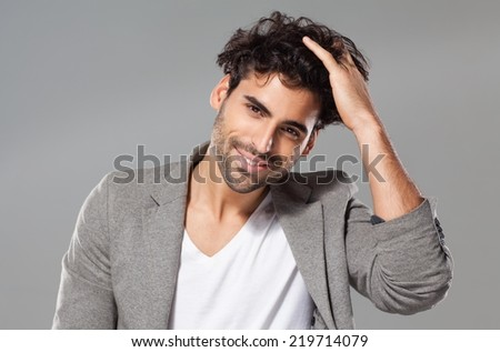 Portrait of a young man. - stock photo