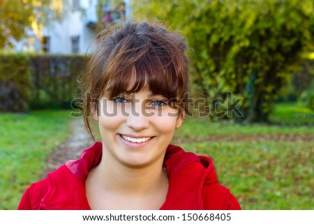Portrait of a young, modern woman - stock photo